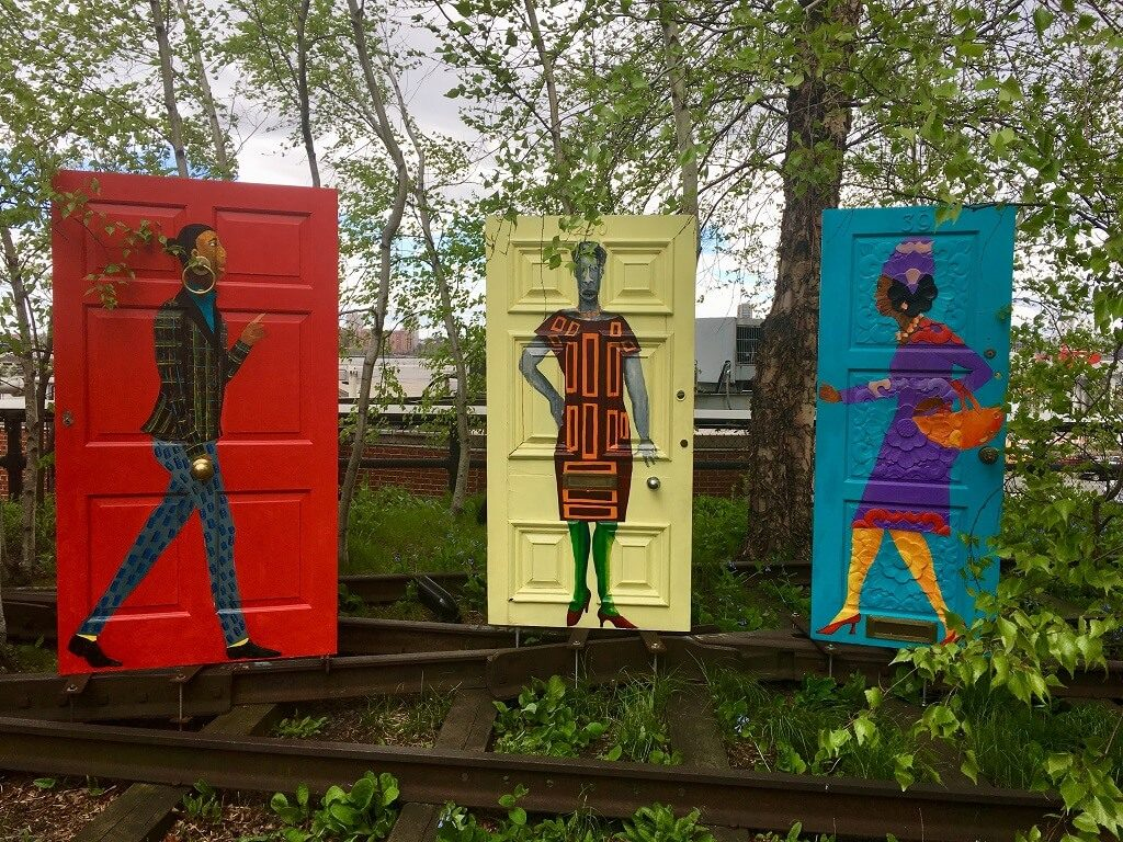 art at the Highline, one of the most underrrated attractions in NYC