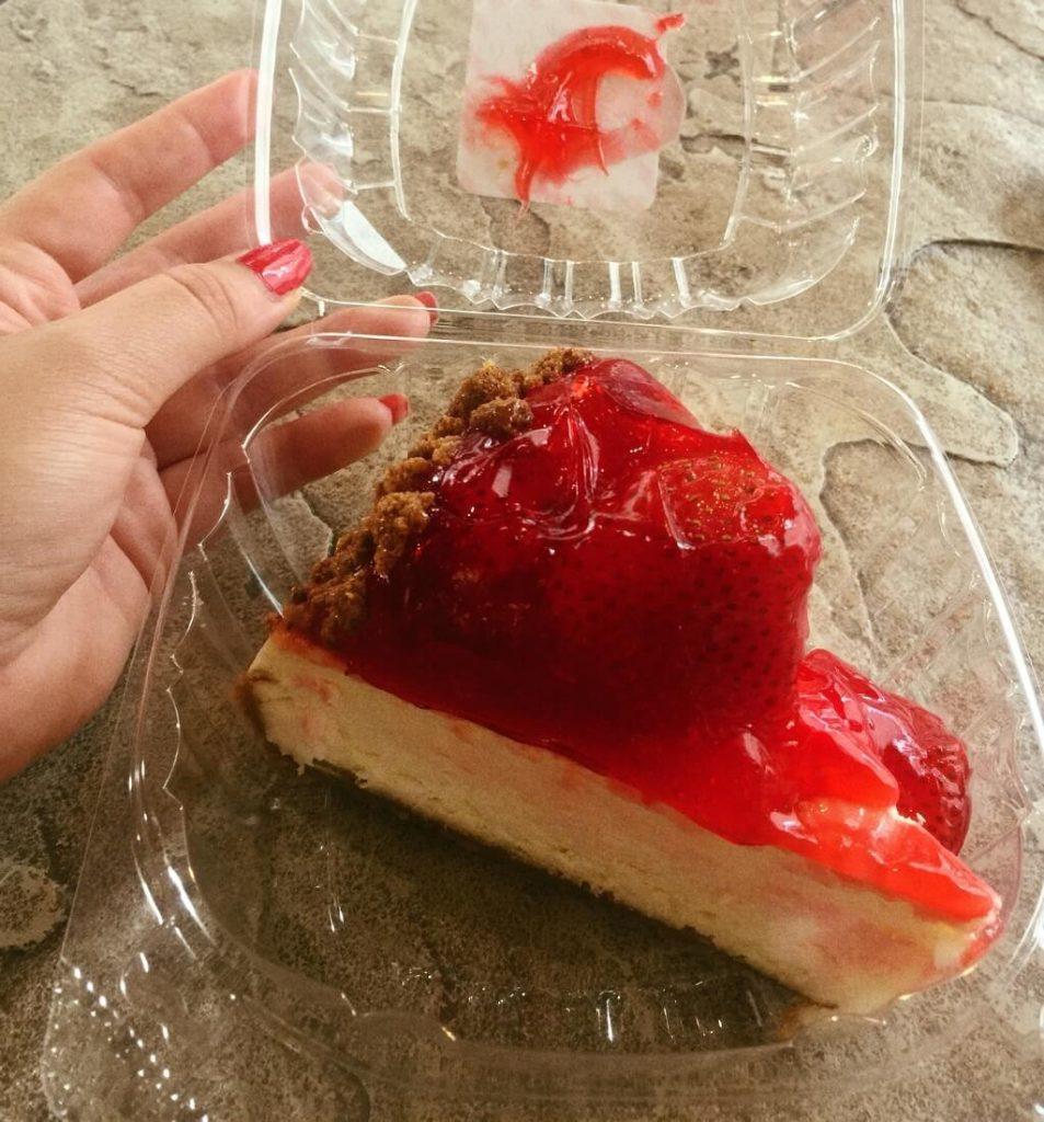 a cheesecake slice