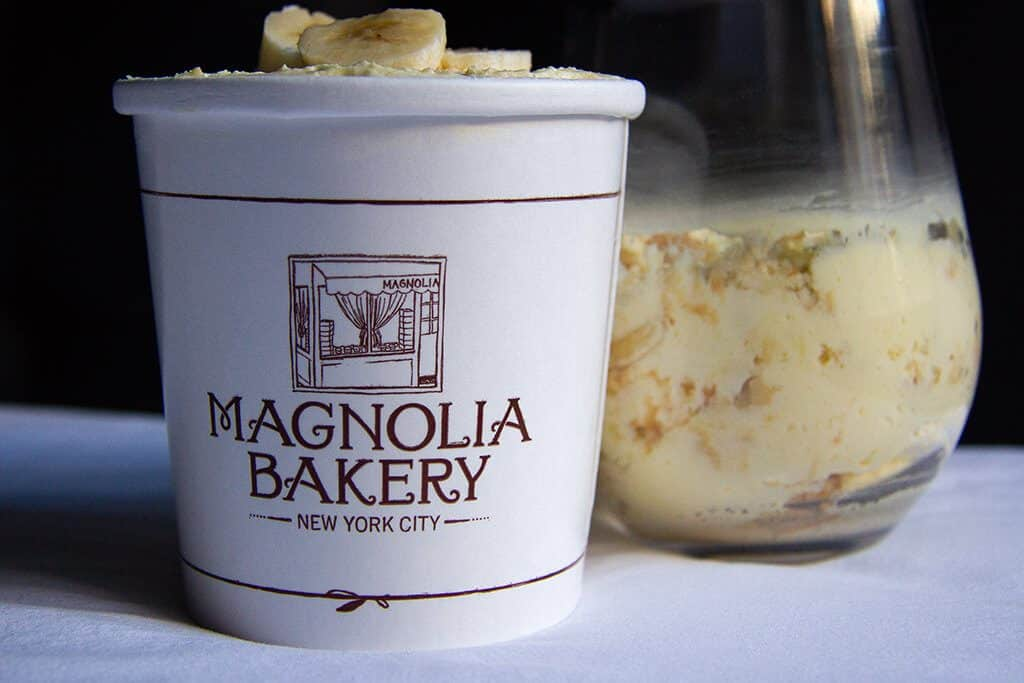 Ice cream container from Magnolia Bakery