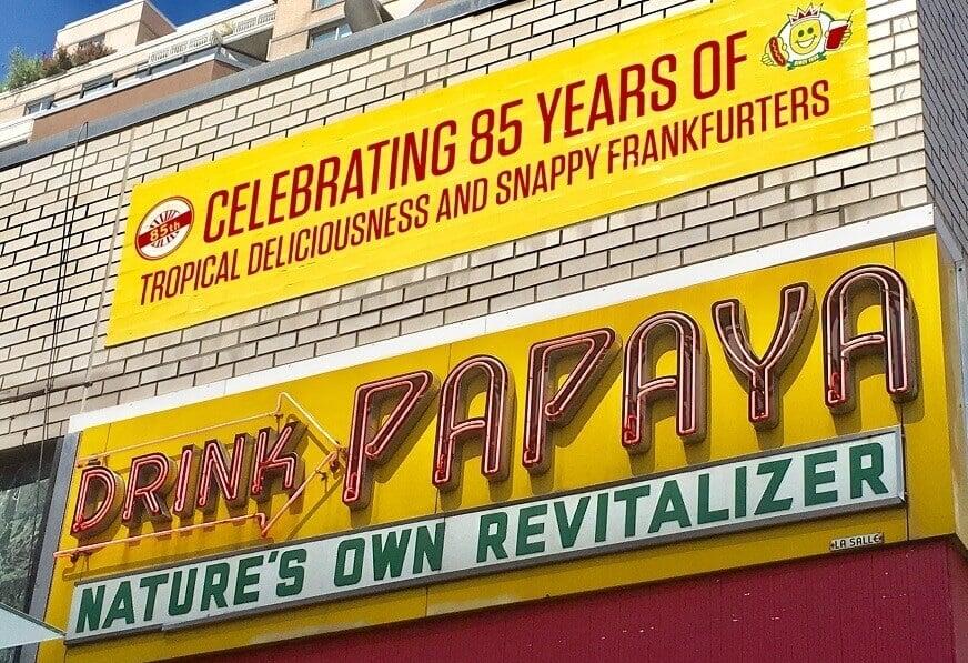 Papaya Dog sign