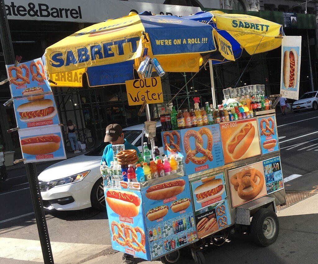 a NYC Hot Dog cart