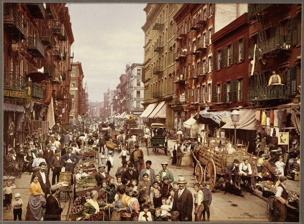 vintage photo of immigrants
