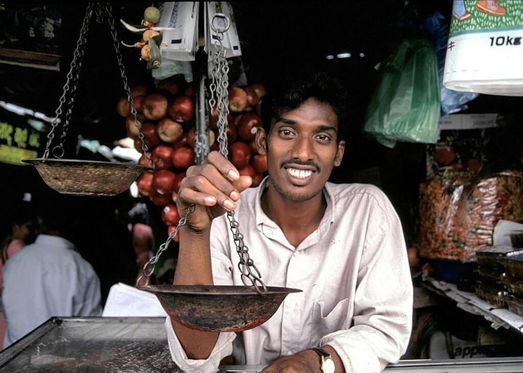a shopkeeper in Sri Lanka