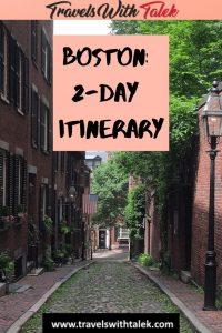 Boston 2-day itinerary - Beacon Hill Street