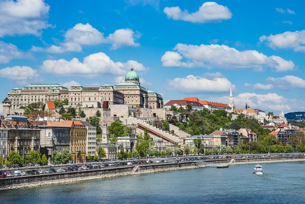 A view of Buda Castle district