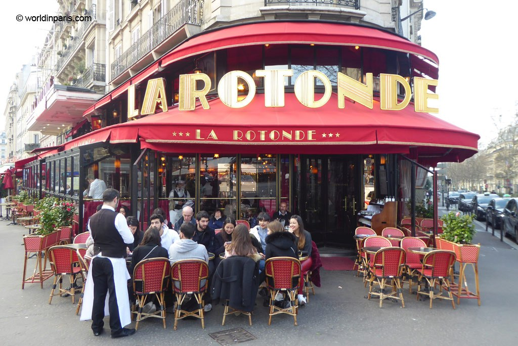 Exterior of La Rotonde in Paris
