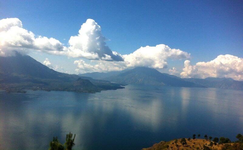 The mountainous coastline of Guatemala