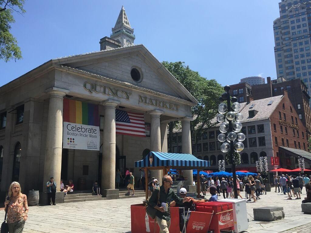 Front shot of Quincy Market building