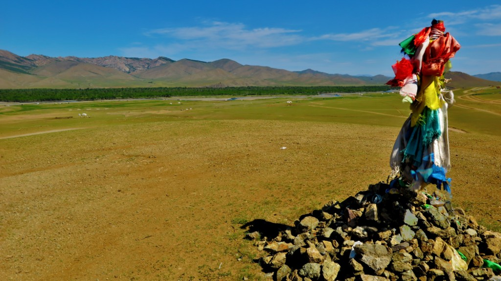 Mongolia landscape. Describes books to read before traveling to Asia