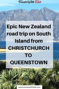 Road trip form Christchurch to Queenstown