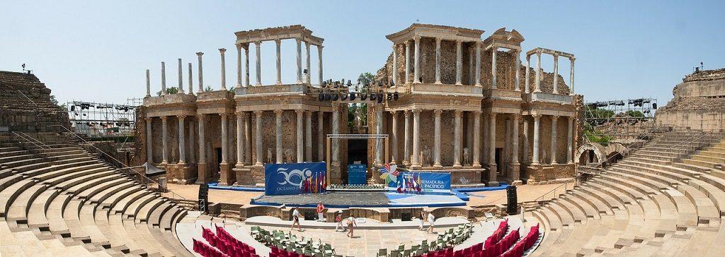 Roman ruins in Merida spain
