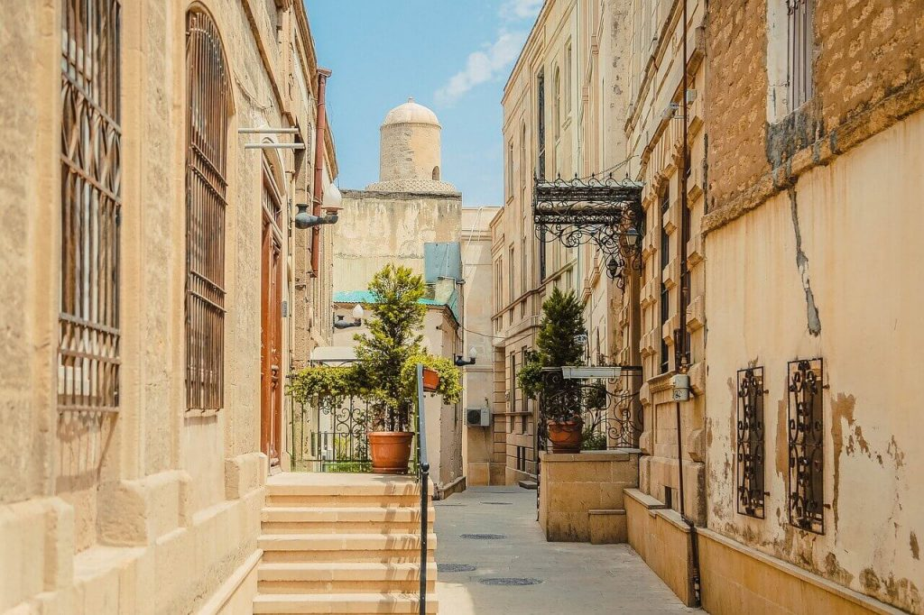 Streets of Old Town in Baku