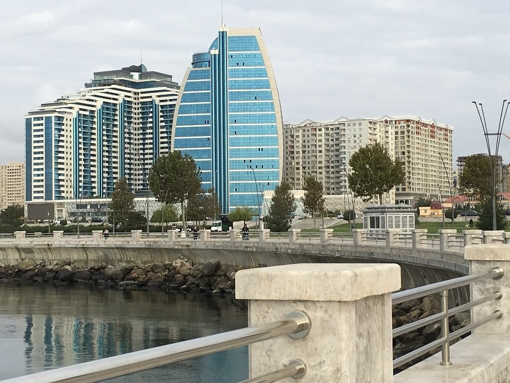 The Bulvar or seawall of Baku