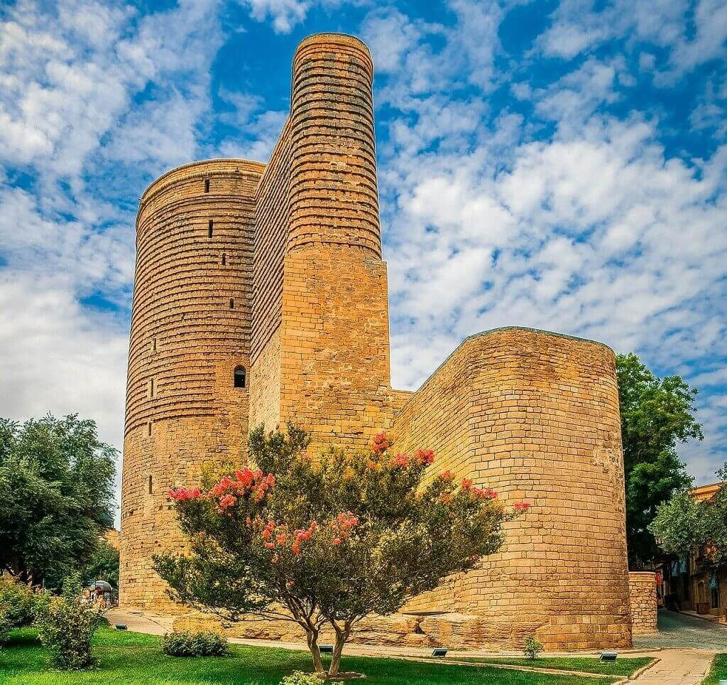 Maiden Tower in Baku on your Baku city tour. Places to visit in Baku