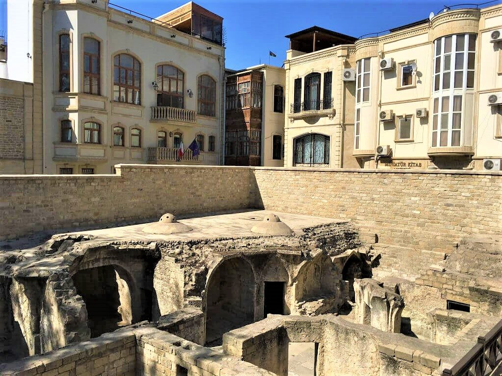 Ruins of public baths in Baku