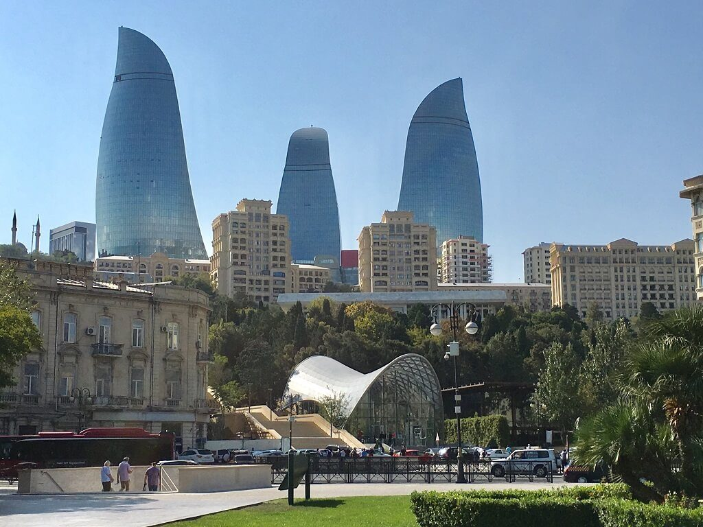 The Flame Towers in Baku, Azerbaijab.
