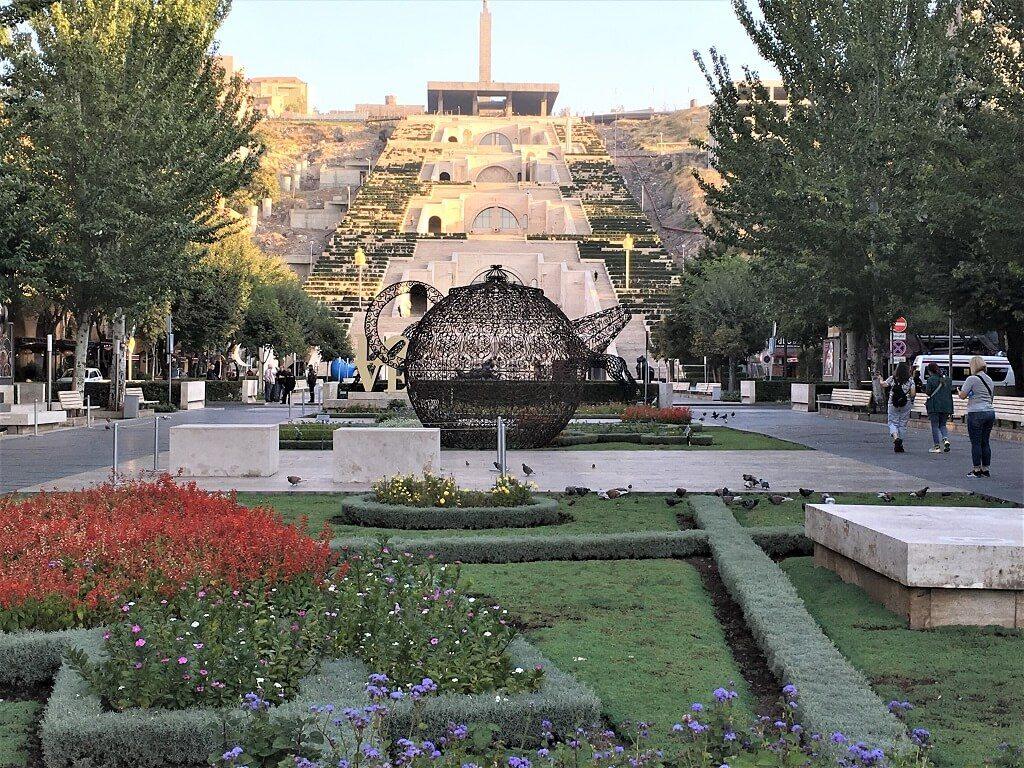 Sculpture garden at the Cascade in Yerevan