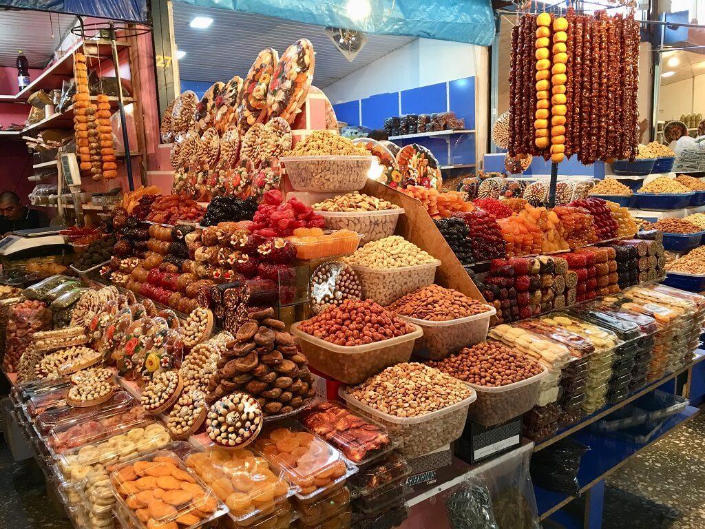 Dry fruits in Yerevan market