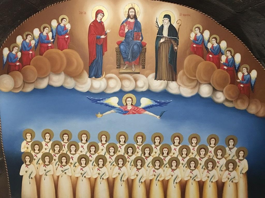 Mural of Saint Gayane church