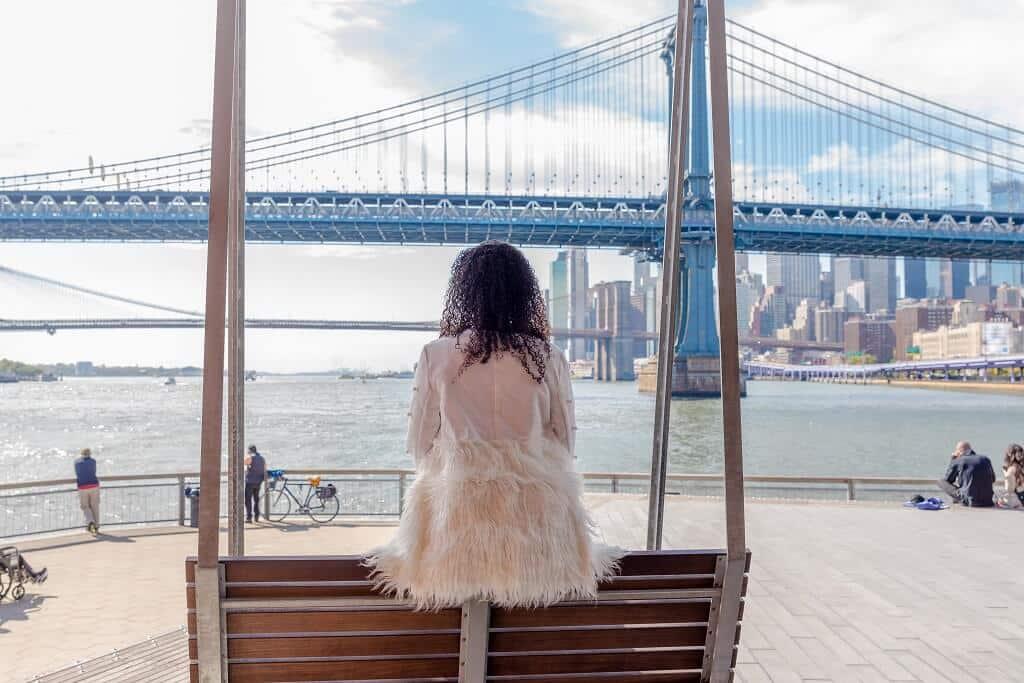 Bridge view from the Lower East Side neighborhood in Manhattan
