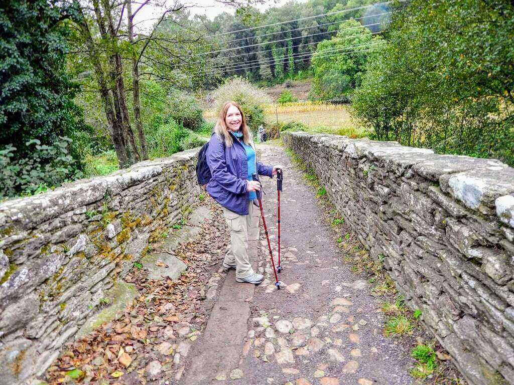 Millie walkinf the Camino from Sarria to Santiago