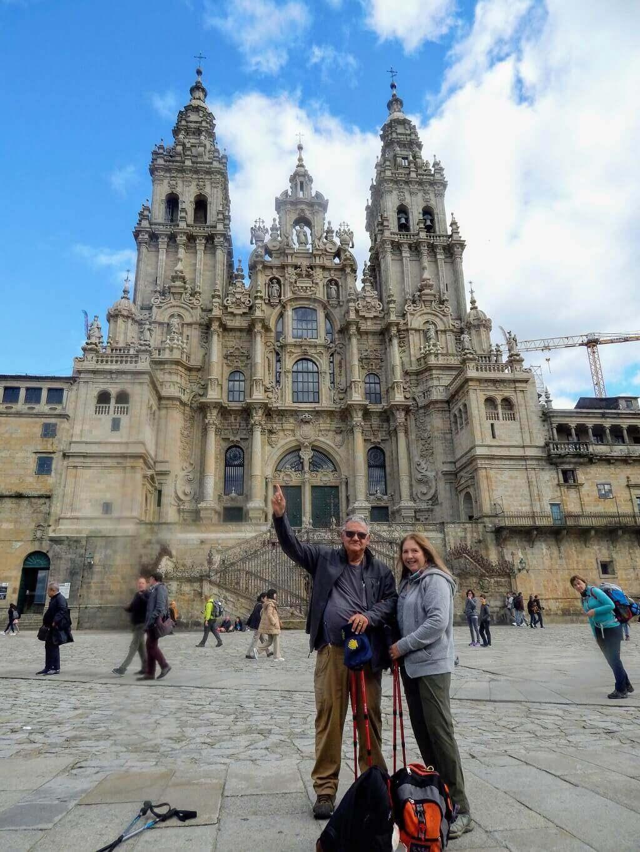 end of the Camino at Santiago de Compostela church