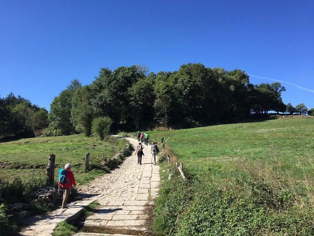 el camino from Sarria to Santiago de Compostela