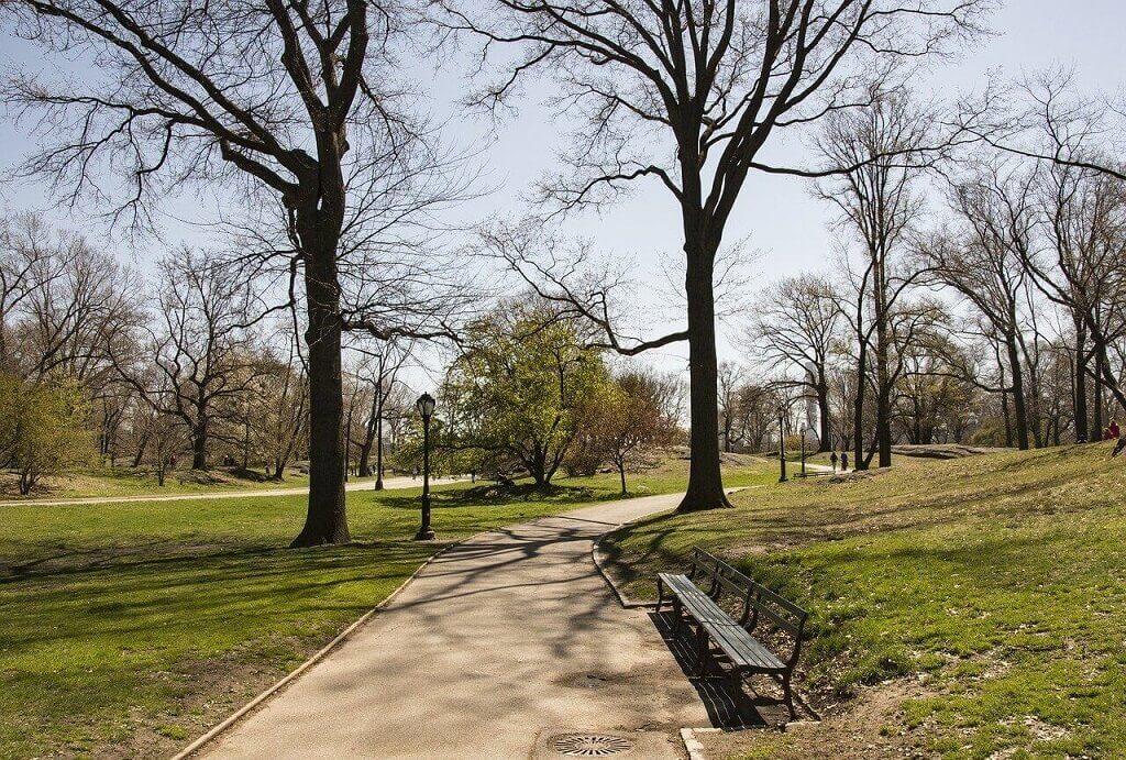 Empty Central Park during coronavirus