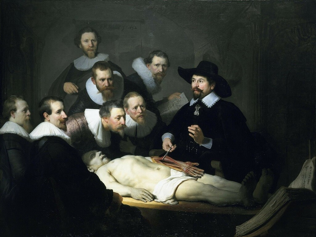 The Anatomy class painting by da Vinci can be visited on a virtual museum tour