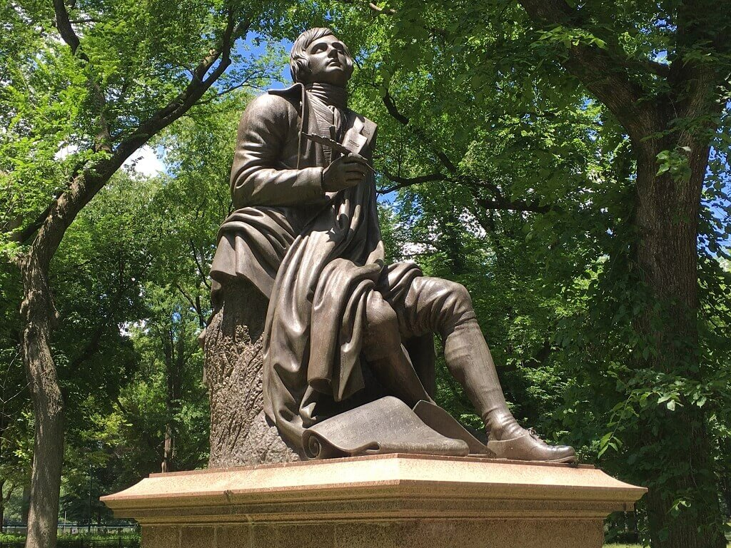 Robert Burns in Literary Walk NYC