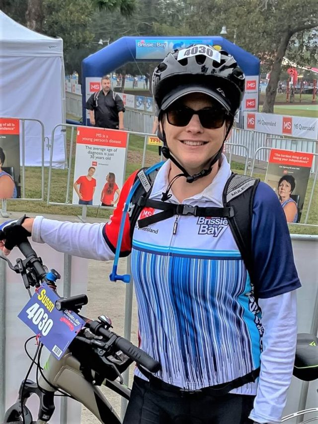 Author at finishing line cycling to loose weight