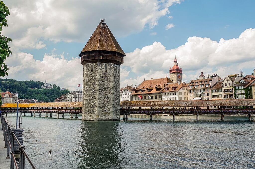 A bridge in Lucerne, Switzerland