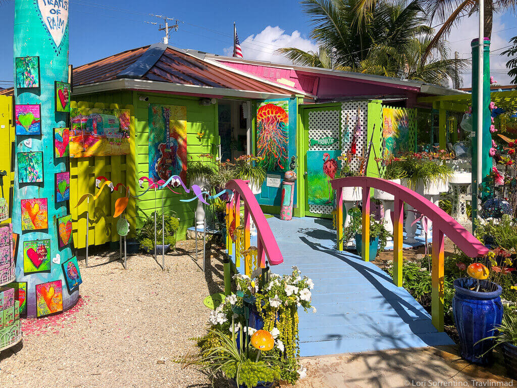 Colorful house in Pine Island, Florida