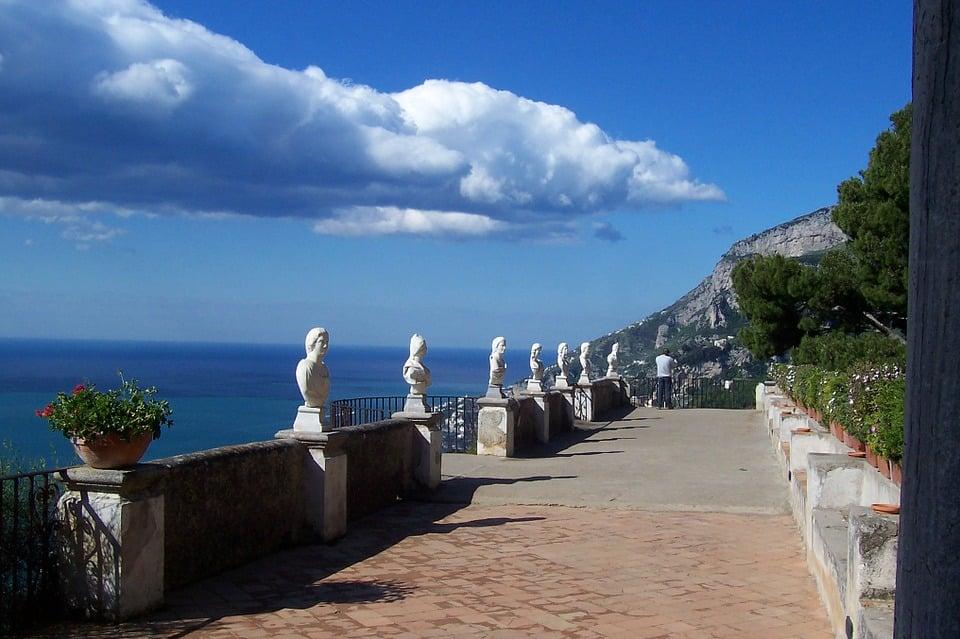 Sorento promenade on the Amalfi Coast