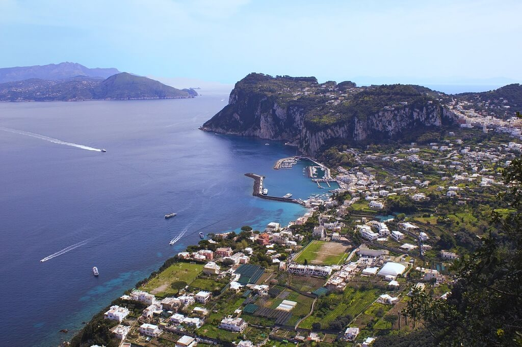 Capri from a mountain view