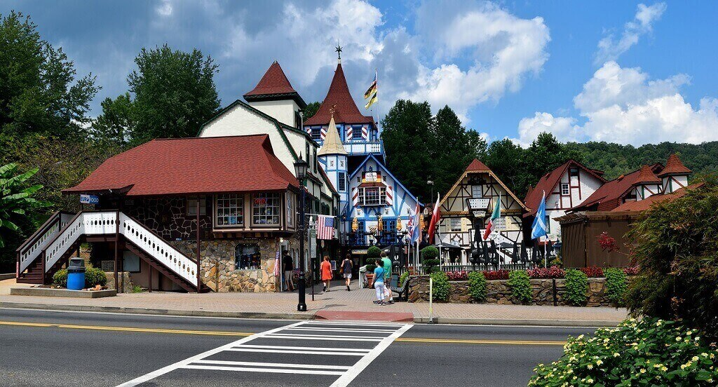 Bavarian village in Helen, Georgia