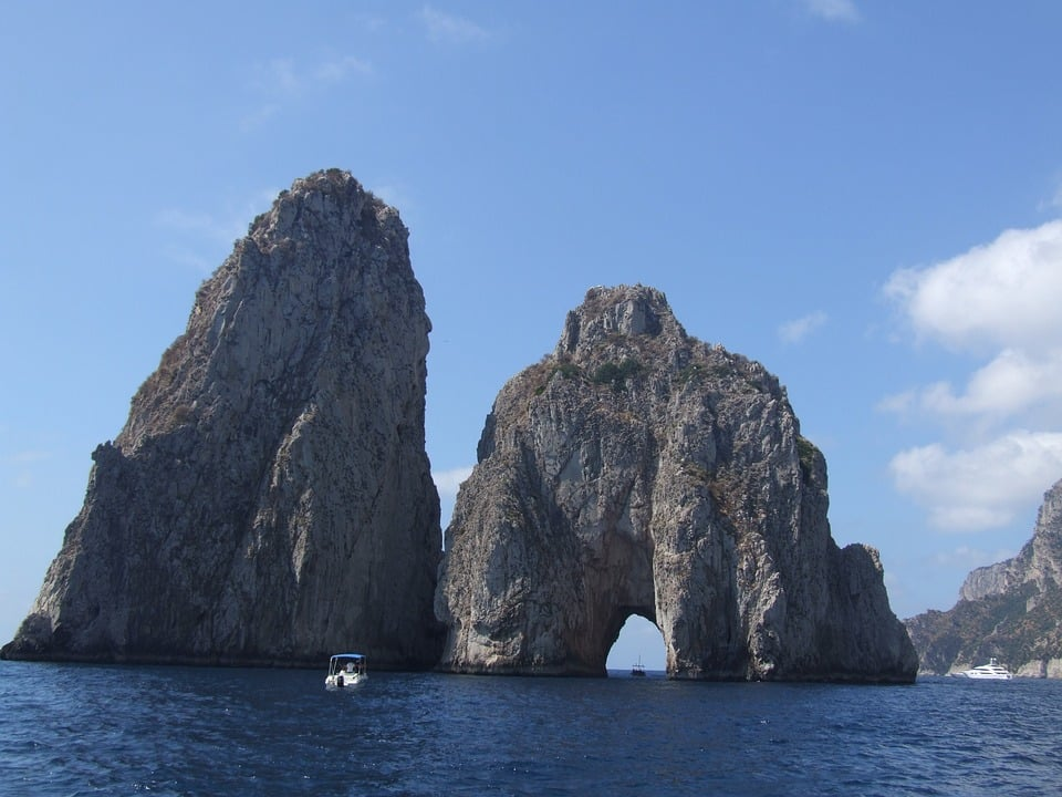 Exploring the waters off the Amalfi coast