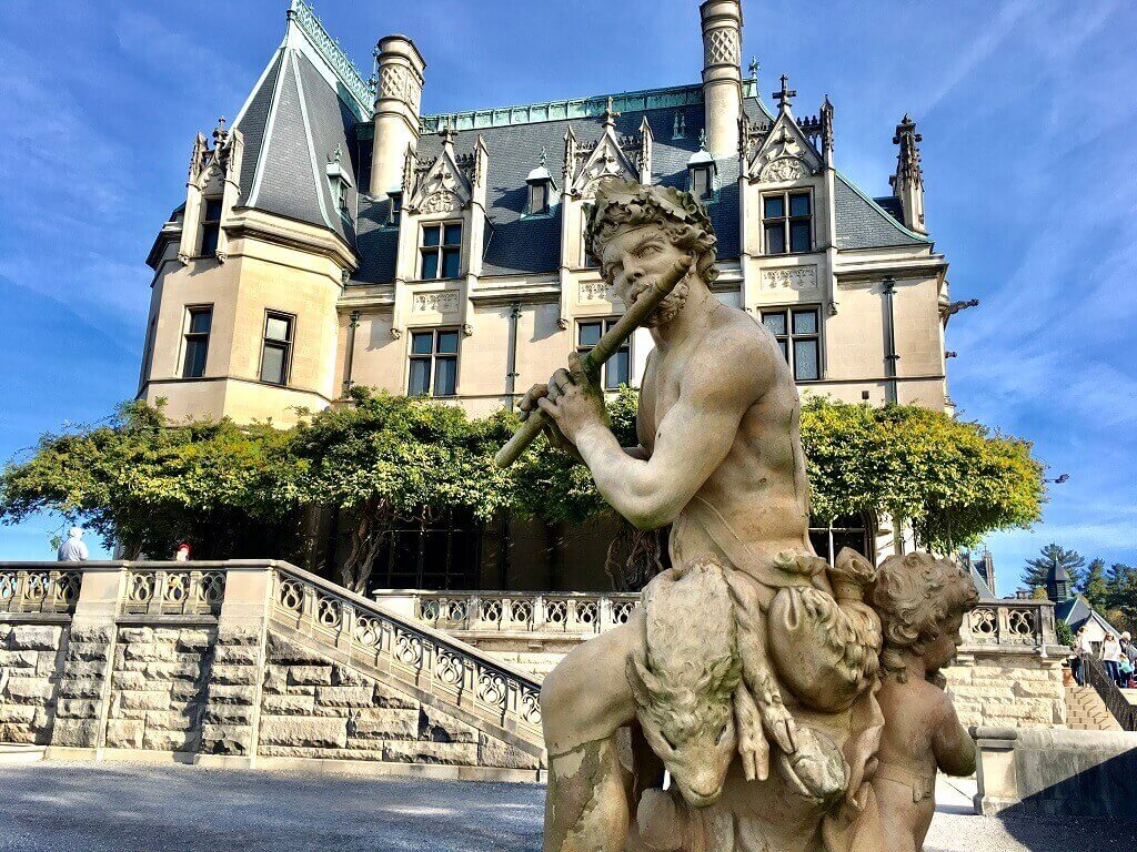 Biltmore with statue