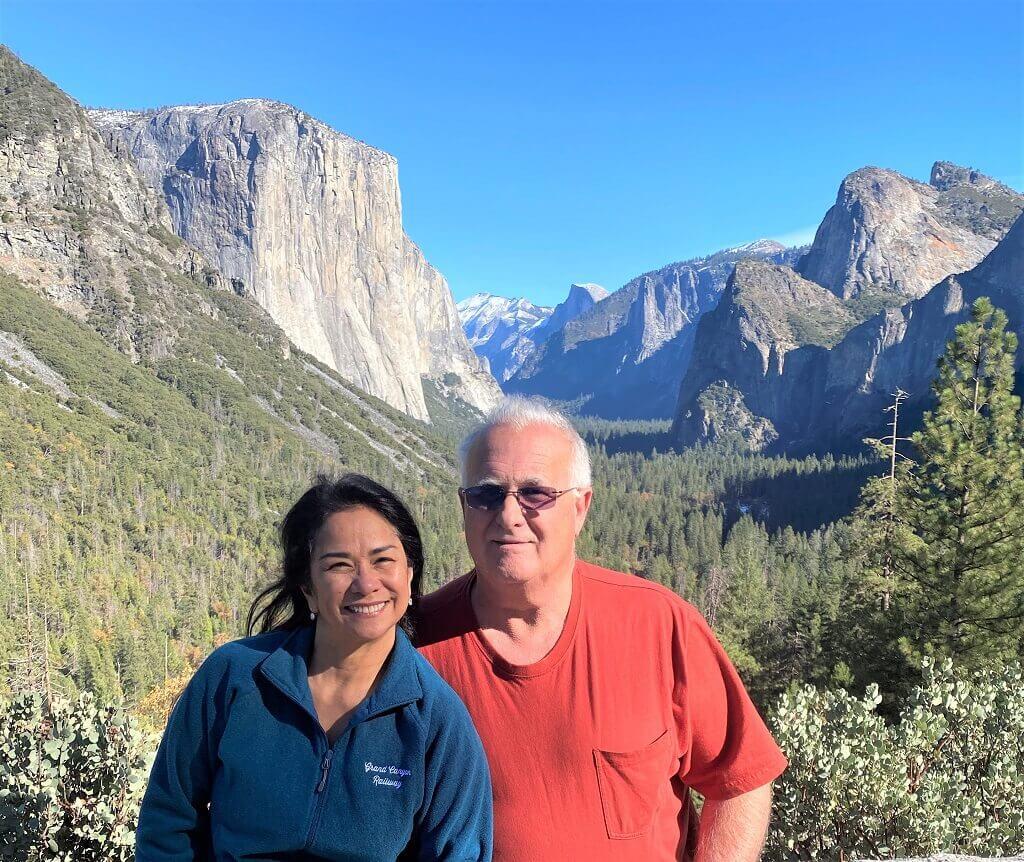 Couple in front of El Capitan