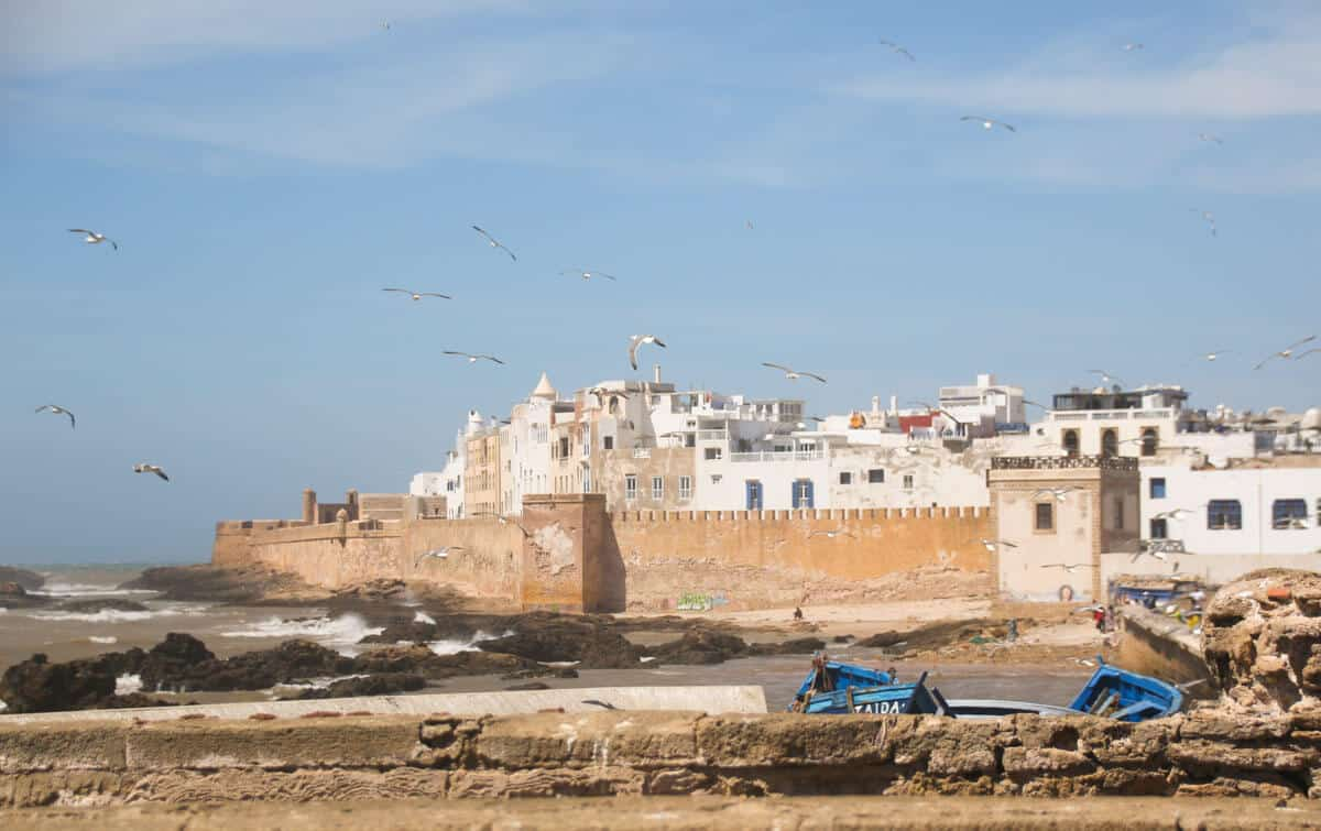 Essaouira Medina walls in Morocco