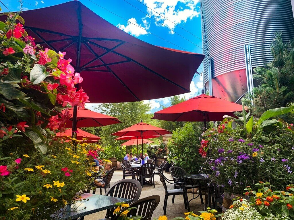 Beer Garden at the Ellicottville Brewery