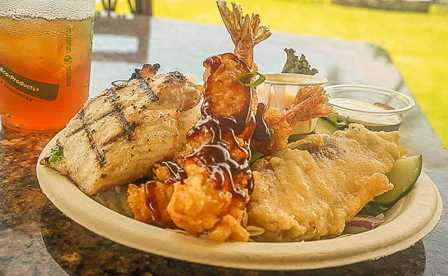 Hawaiian fusion cuisine