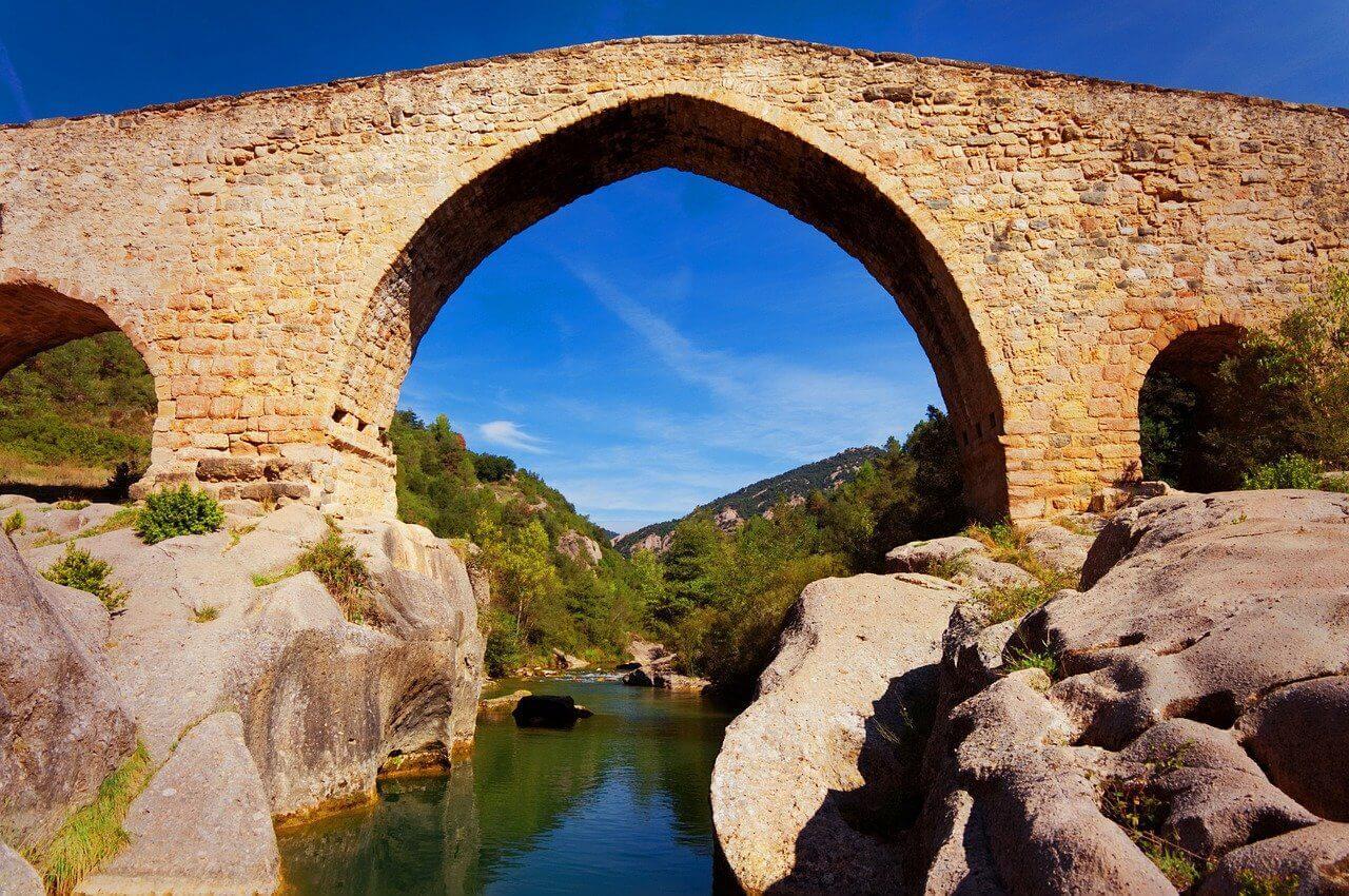 Roman bridge in Roman countryside