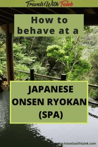 Japanese onsen ryokan (spa) experience