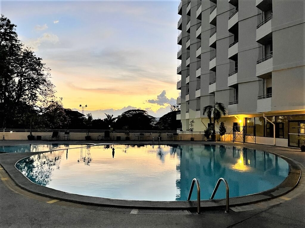 Pool in apartment building