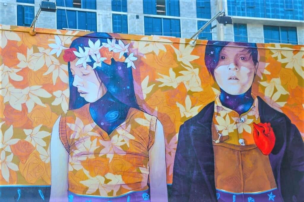 Street art in Wynwood Walls, Miami