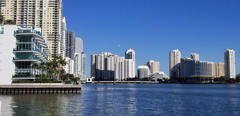 The Miami skyline