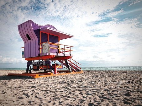 Lifeguard house on South Beach