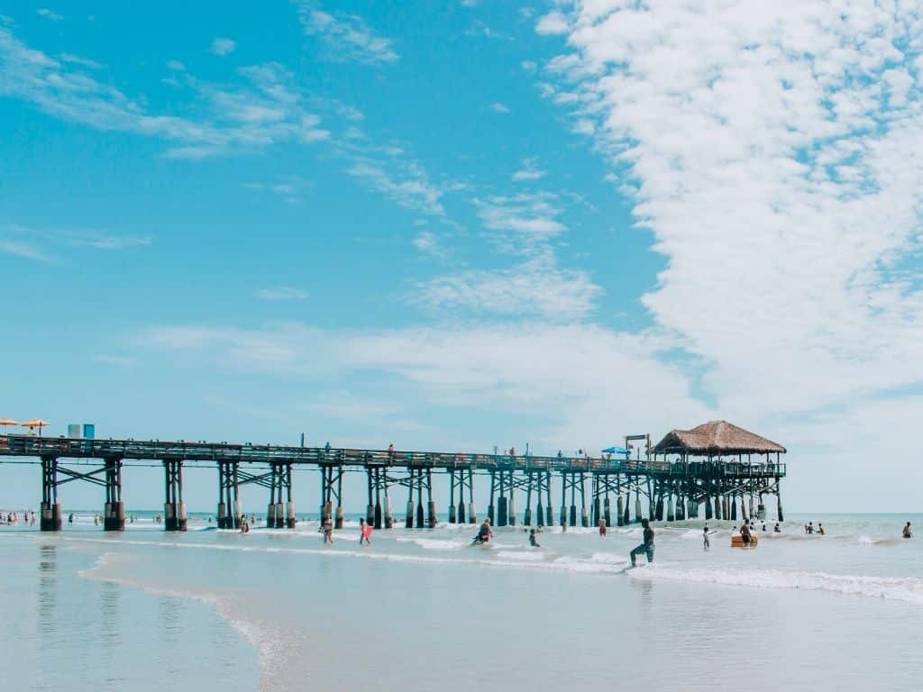The Cocoa Beach Pier.