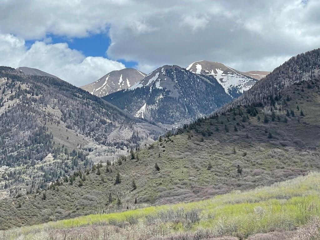 Mountain scenery on a Colorado to Utah road trip